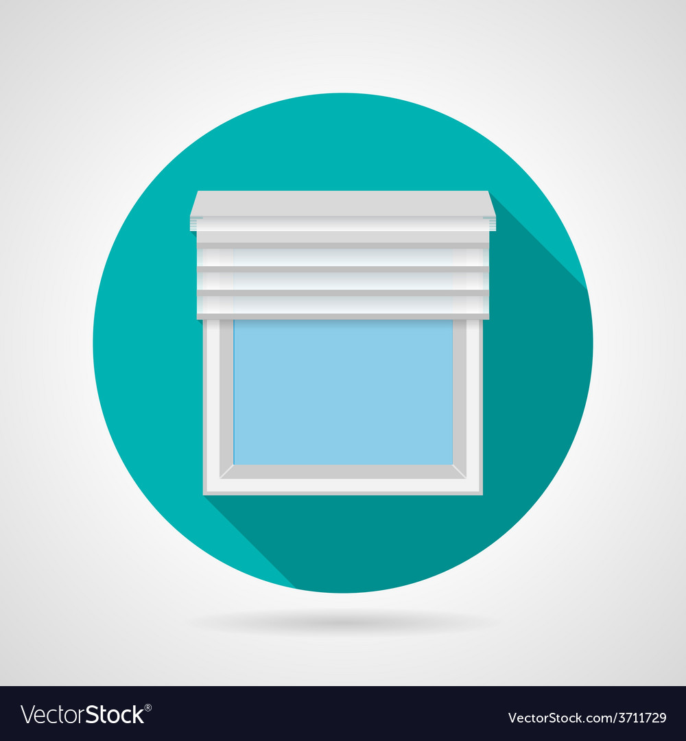 Flat icon for window with blinds vector | Price: 1 Credit (USD $1)