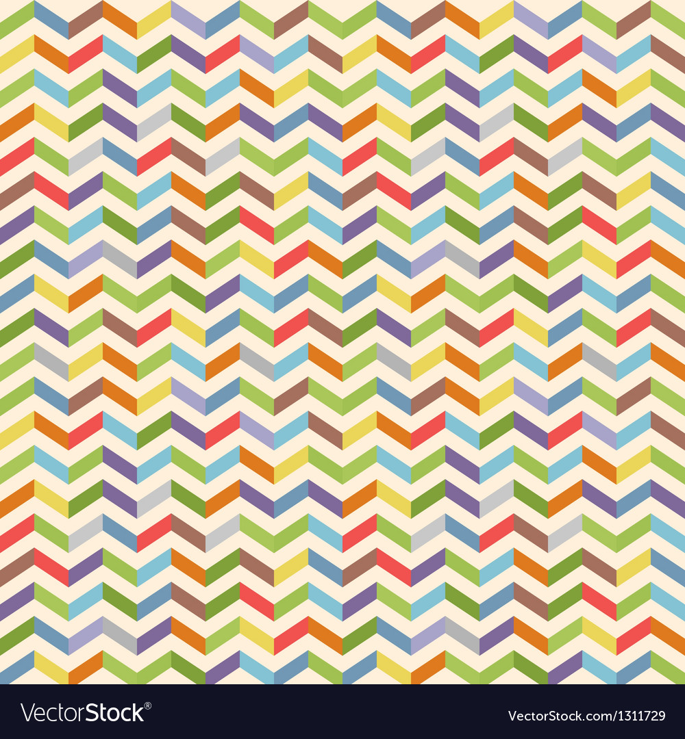 Full color seamless geometric pattern with zigzags vector | Price: 1 Credit (USD $1)