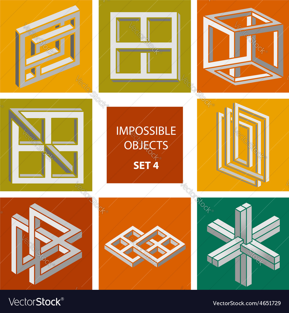 Impossible objects set 4 vector   Price: 1 Credit (USD $1)