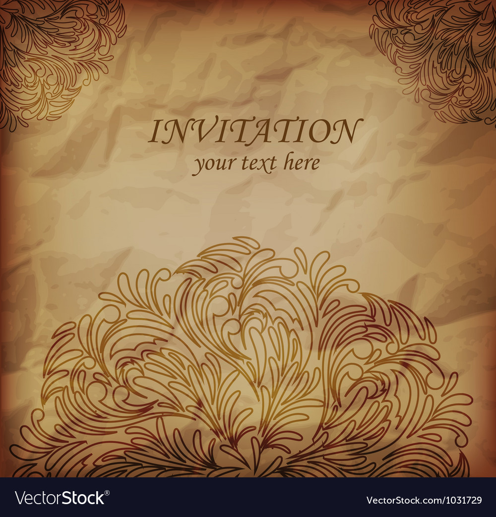 Invitanion card vector | Price: 1 Credit (USD $1)