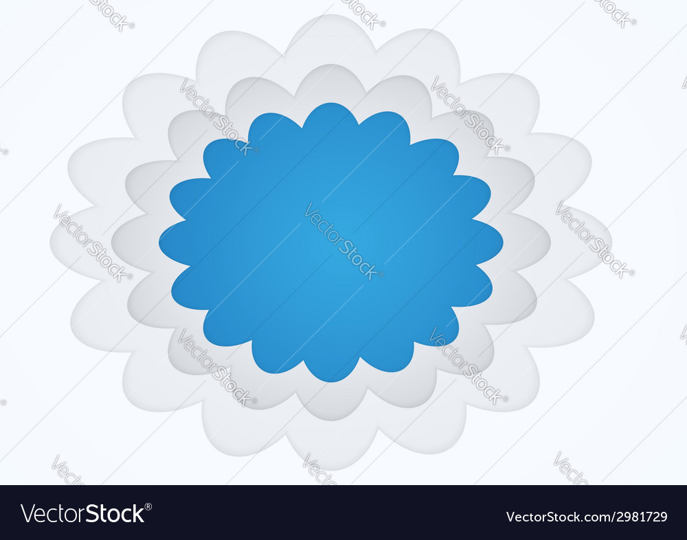 Picture frame cloud shape vector | Price: 1 Credit (USD $1)