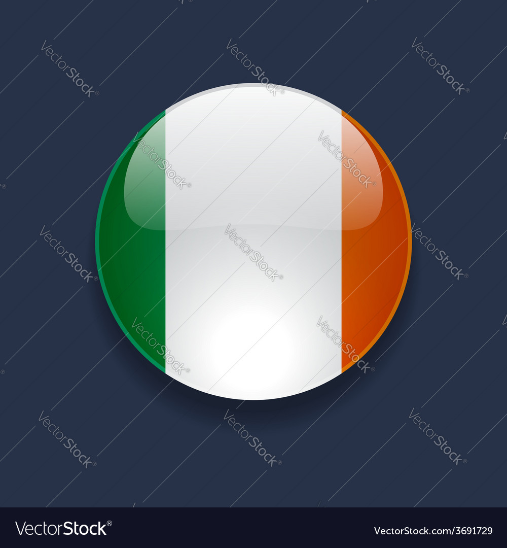 Round icon with flag of ireland vector | Price: 1 Credit (USD $1)