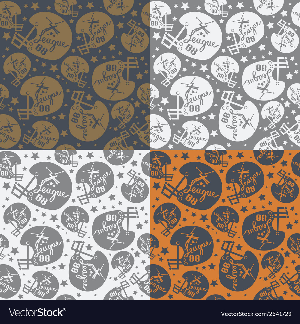 Seamless pattern rugby helmet vector | Price: 1 Credit (USD $1)