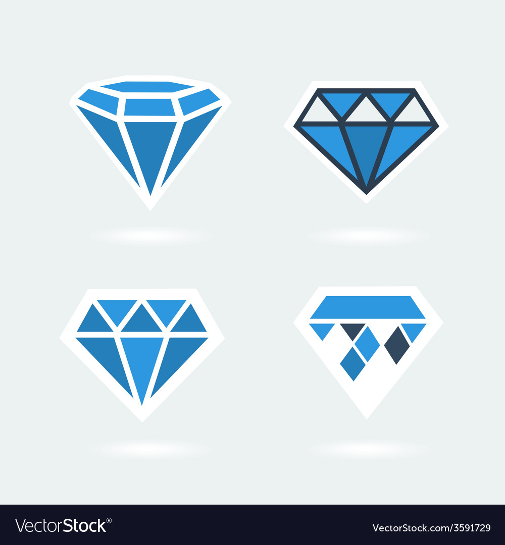 Set of symbols diamond vector | Price: 1 Credit (USD $1)