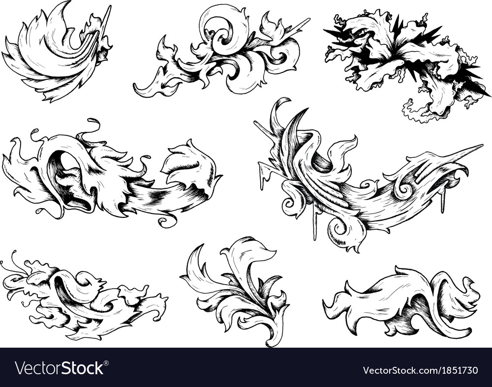 Baroque decorations vector | Price: 1 Credit (USD $1)