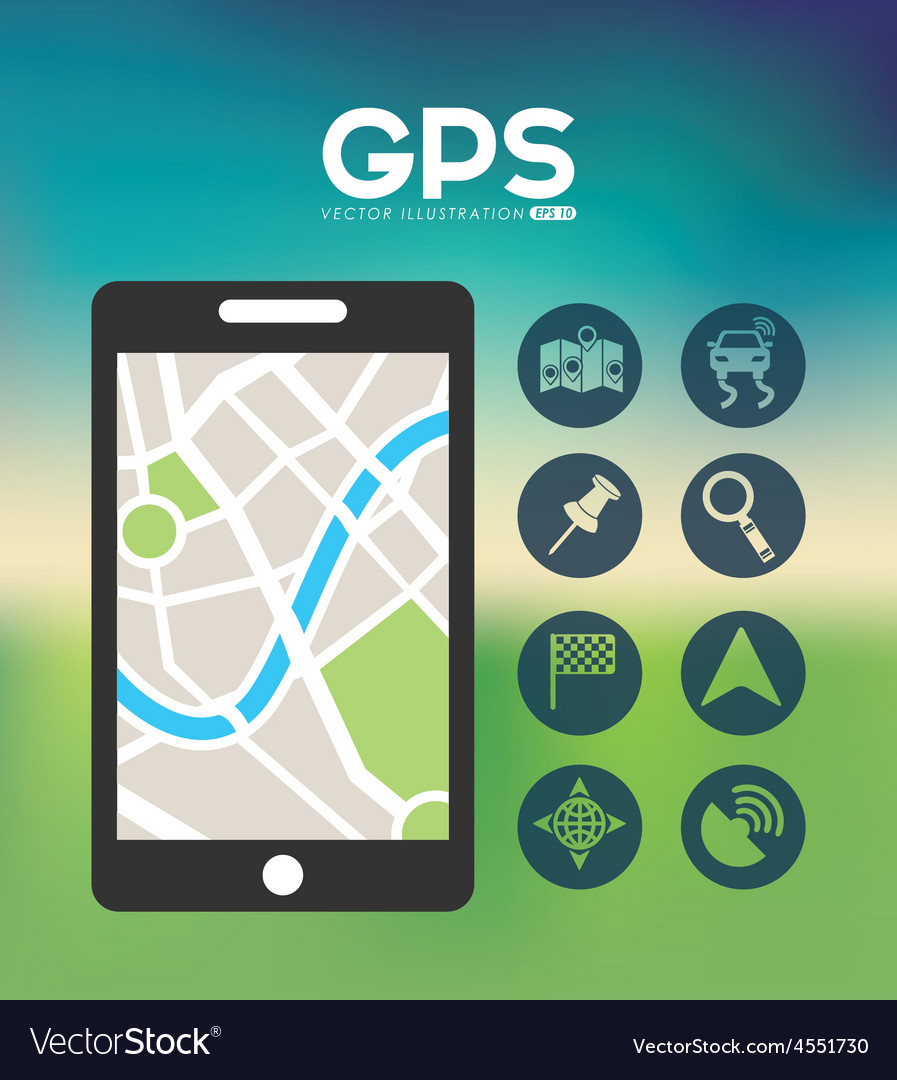 Gps location vector | Price: 1 Credit (USD $1)