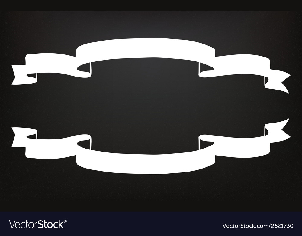 Hand drawn ribbons on the blackboard vector | Price: 1 Credit (USD $1)