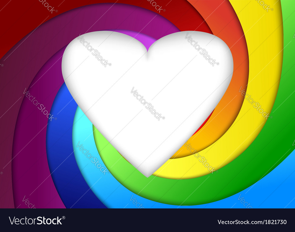 Heart on a rainbow - valentine background vector | Price: 1 Credit (USD $1)