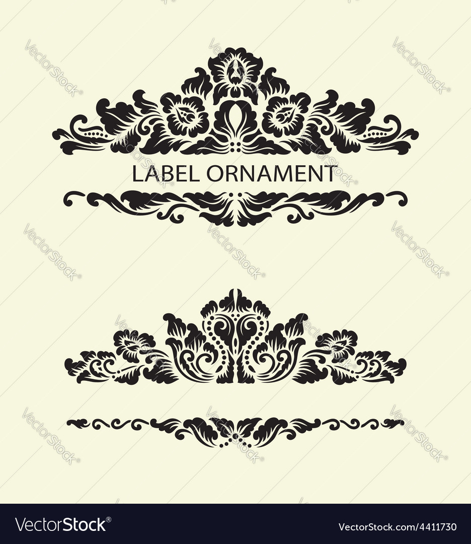 Label ornaments 1 vector | Price: 1 Credit (USD $1)