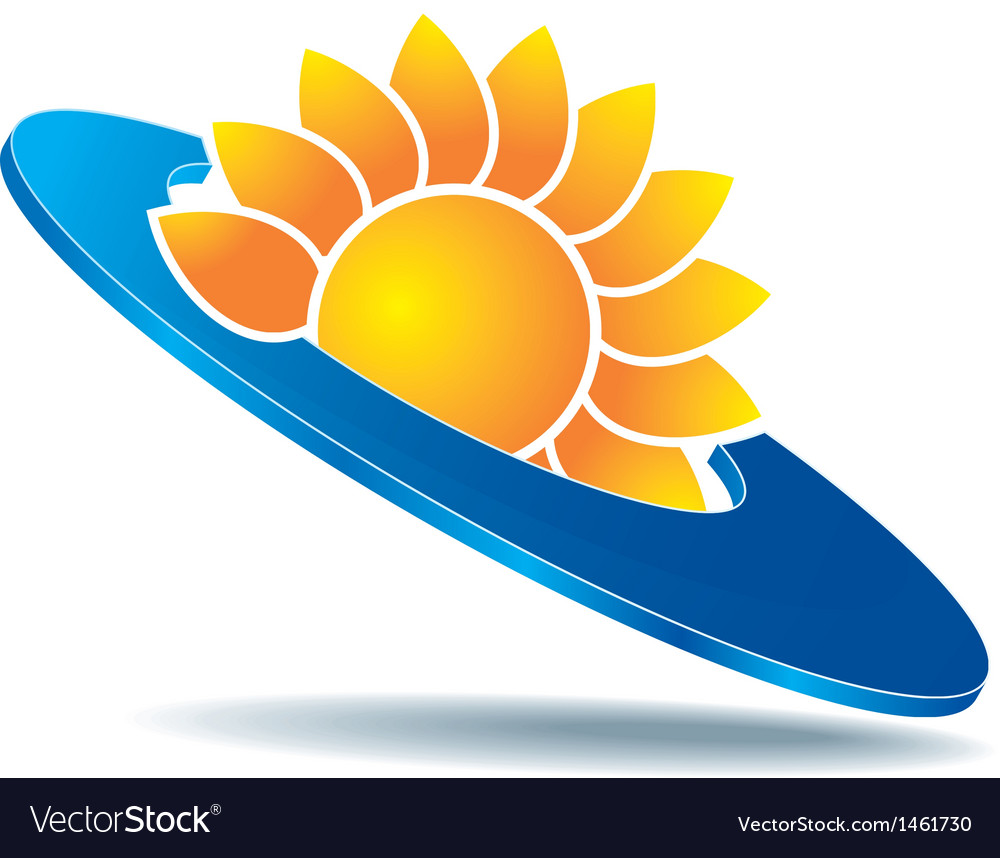 Logo sun disc vector | Price: 1 Credit (USD $1)