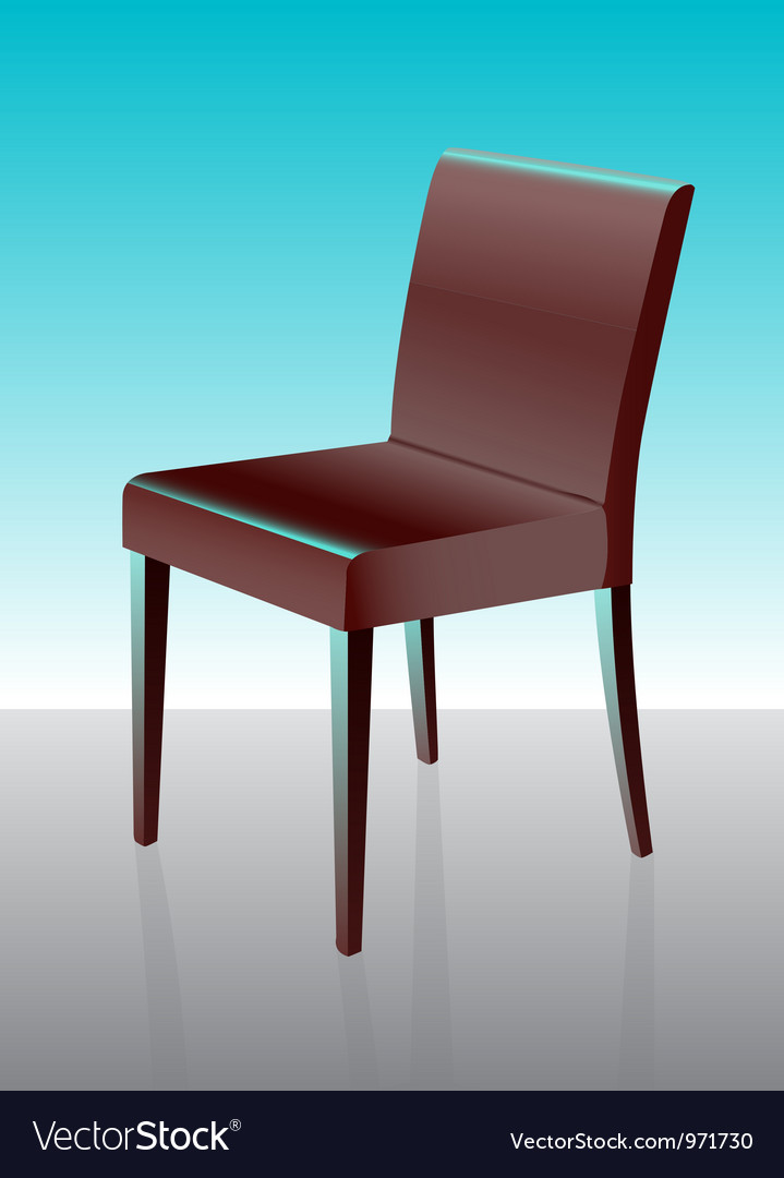 Modern dining chair red vector | Price: 1 Credit (USD $1)