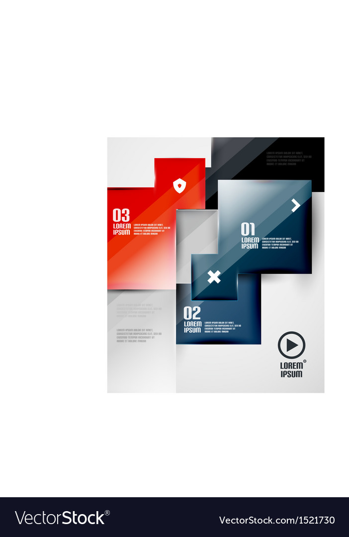 Modern glossy square infographics vector | Price: 1 Credit (USD $1)