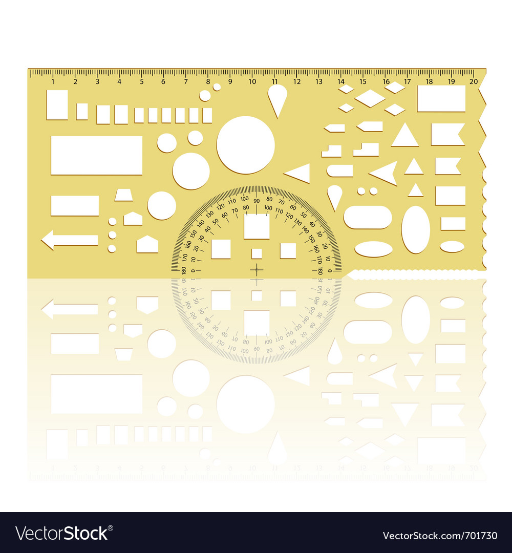 Protractor ruler vector | Price: 1 Credit (USD $1)