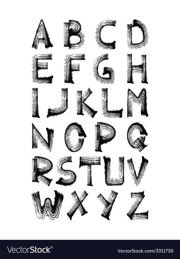 Set of hand drawn alphabet vector | Price: 1 Credit (USD $1)