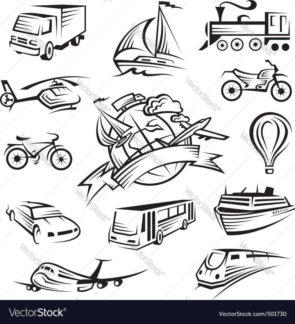 Set of icons of transport vector   Price: 1 Credit (USD $1)