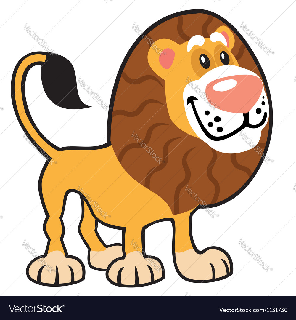 Simple childish lion vector | Price: 1 Credit (USD $1)