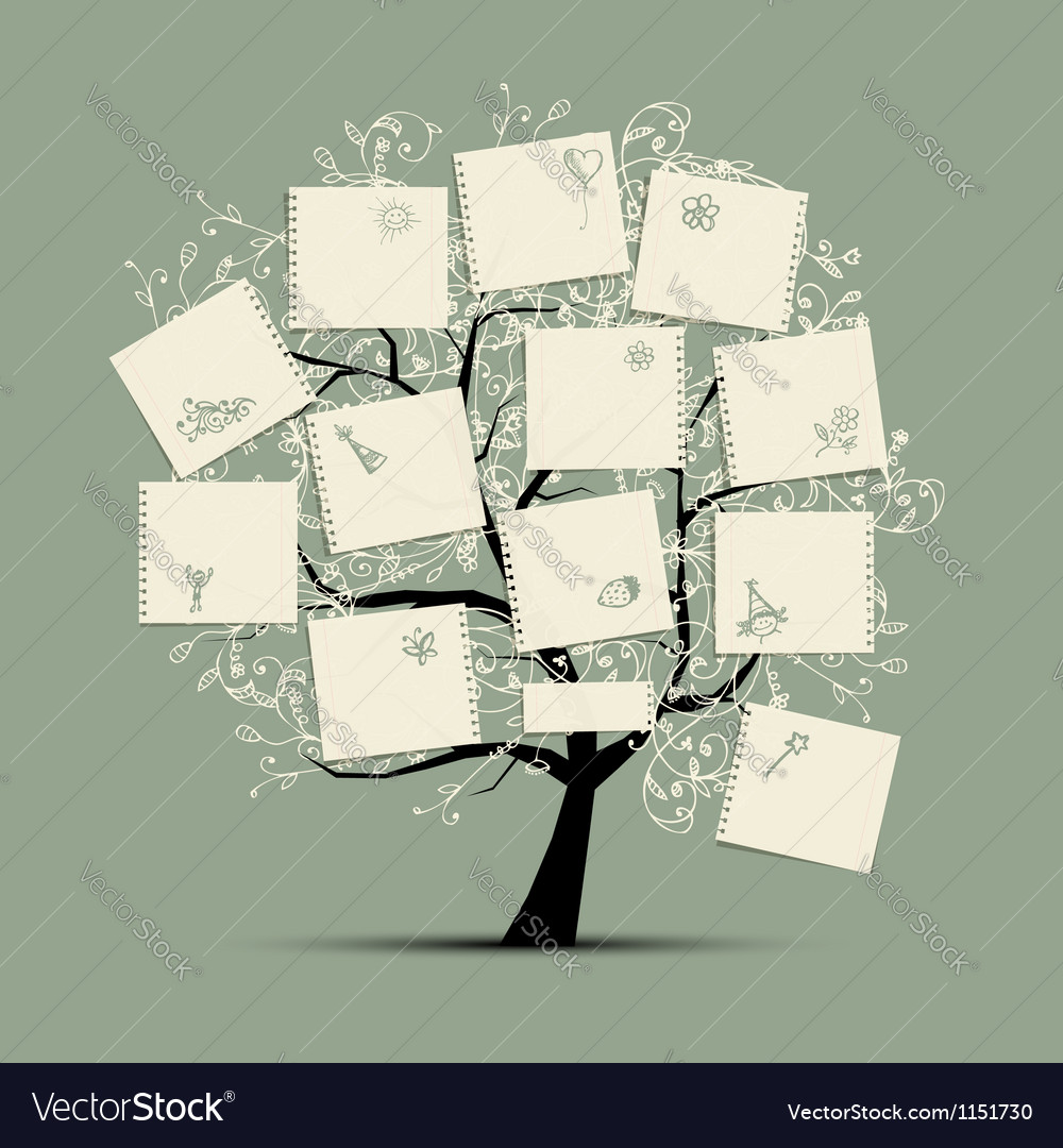 Wish tree for your design vector | Price: 1 Credit (USD $1)