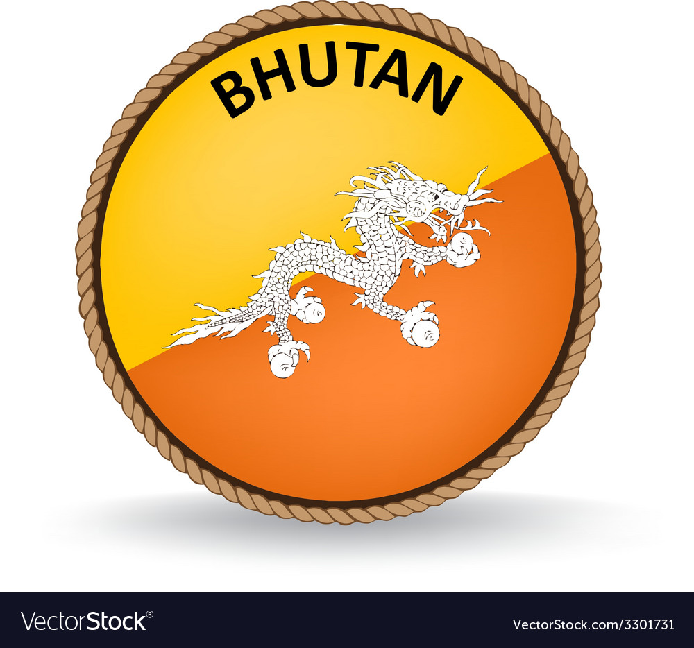 Bhutan seal vector | Price: 1 Credit (USD $1)