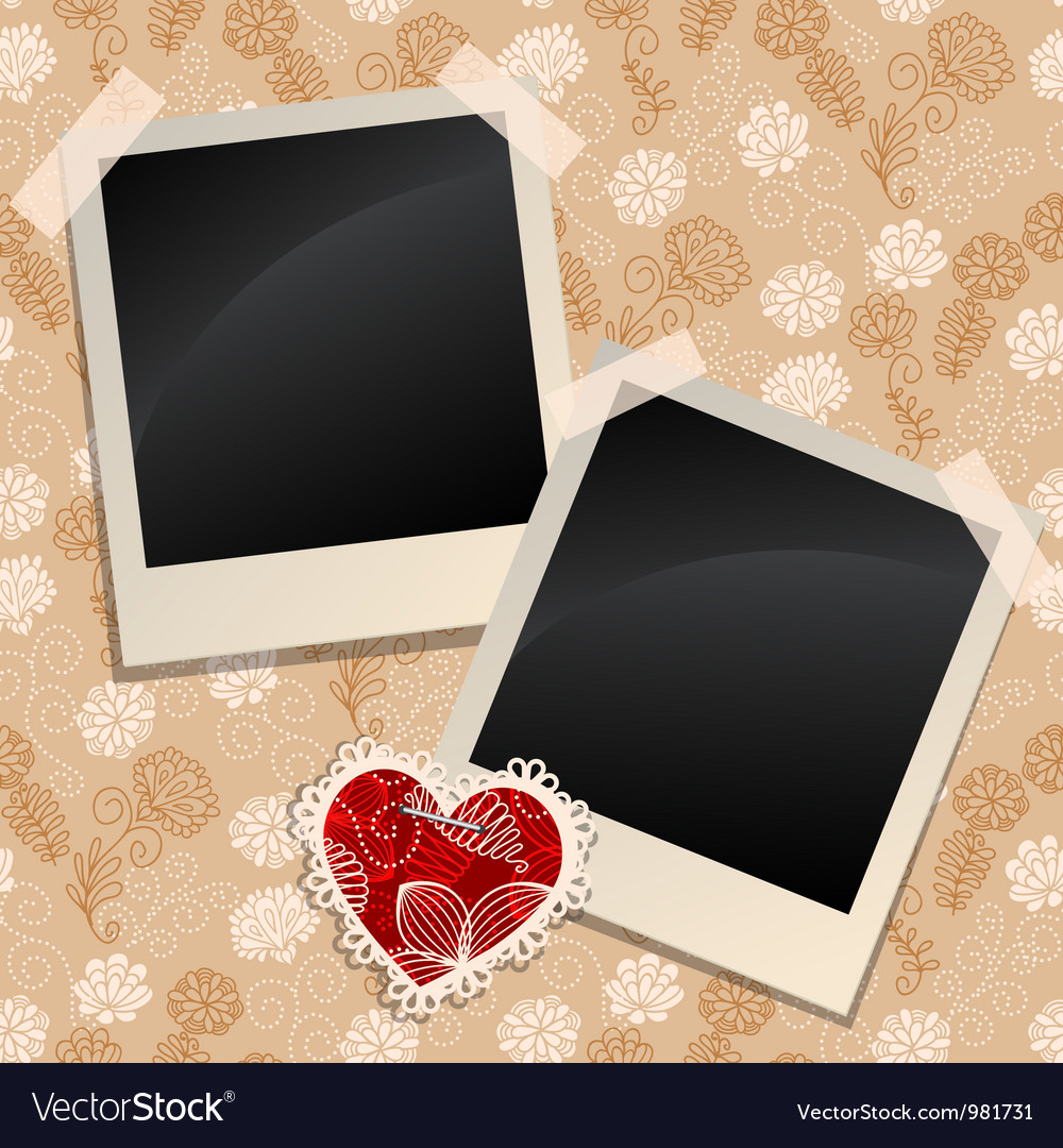 Blank photos on a wall vector | Price: 1 Credit (USD $1)