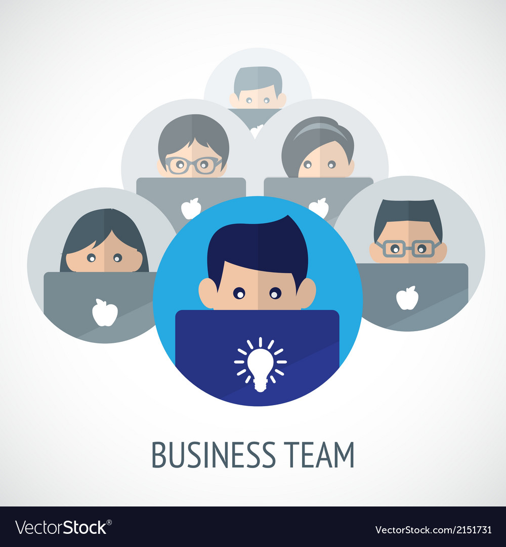 Business team emblem vector | Price: 1 Credit (USD $1)