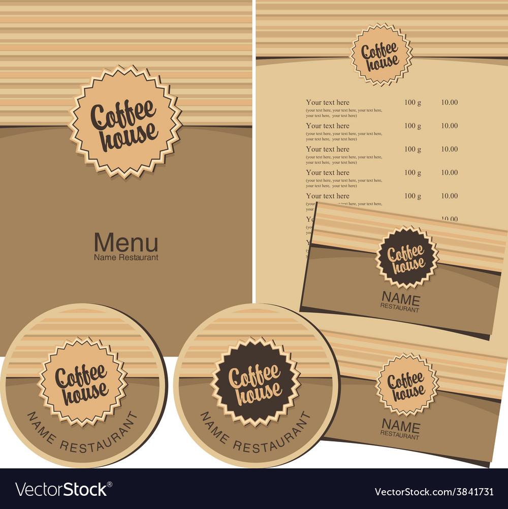 Coffee house menu vector   Price: 1 Credit (USD $1)