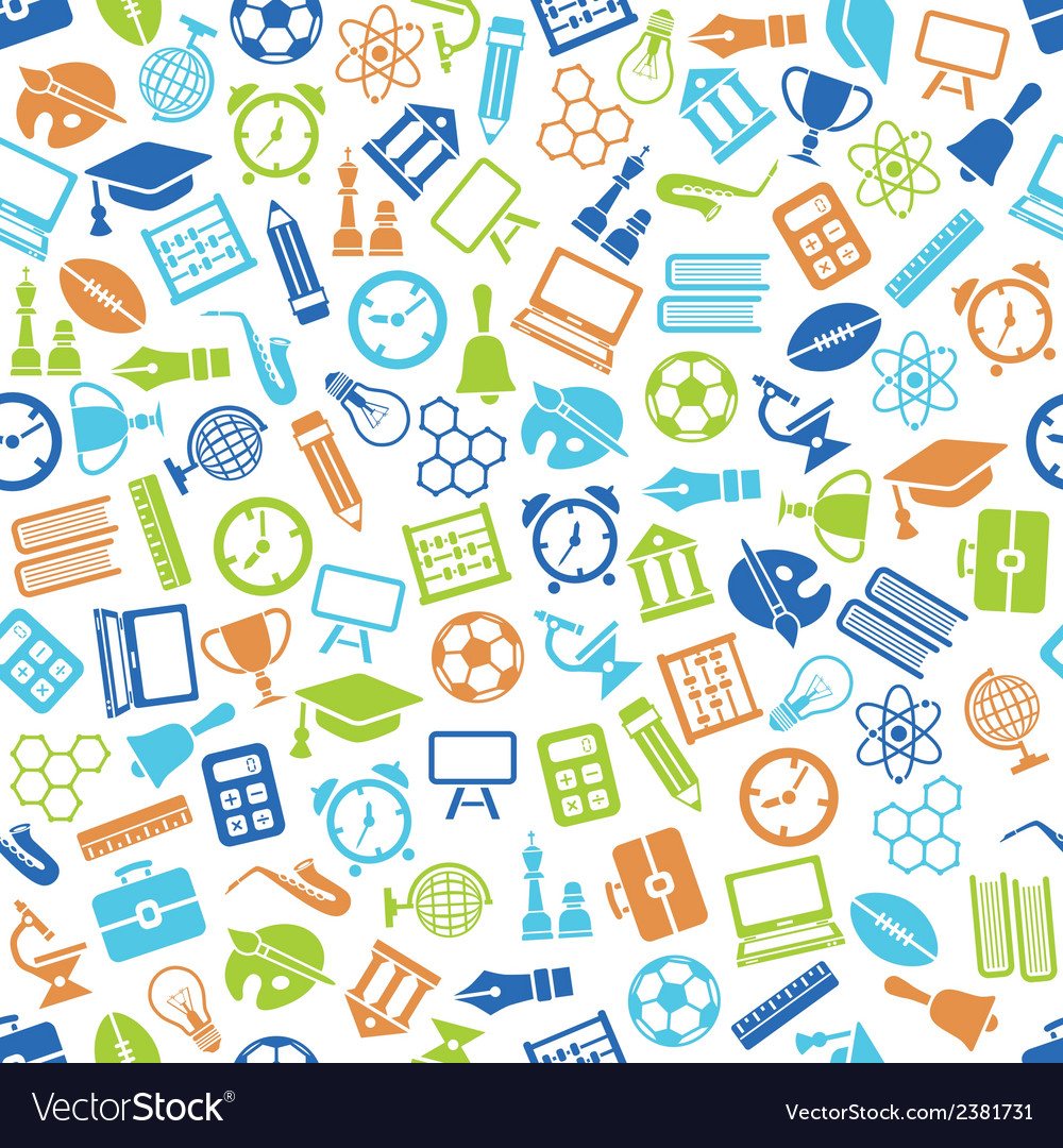 Education seamless pattern vector | Price: 1 Credit (USD $1)