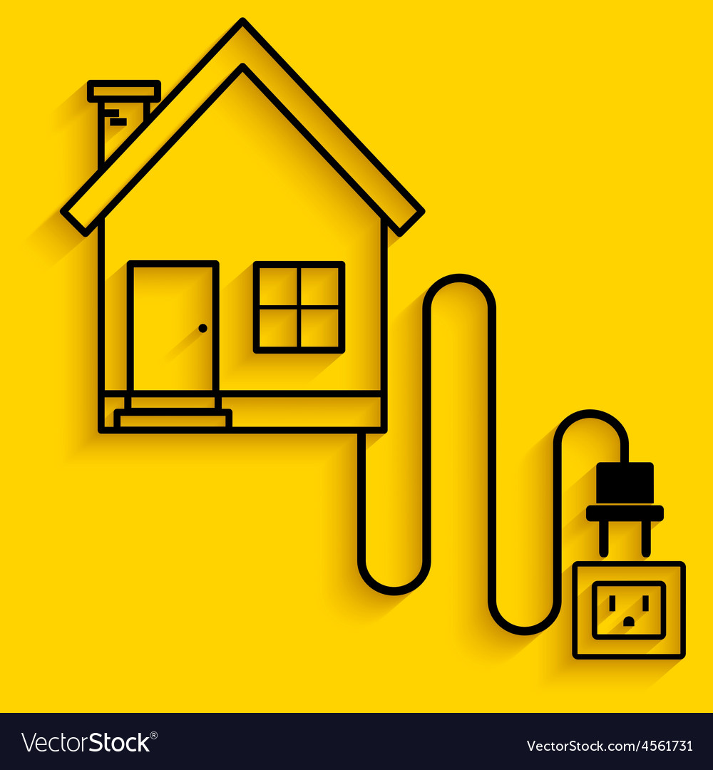 Electric house vector | Price: 1 Credit (USD $1)