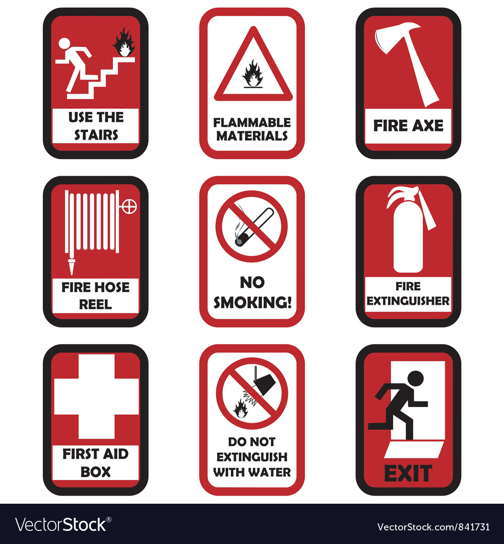 Fire caution signs vector | Price: 1 Credit (USD $1)