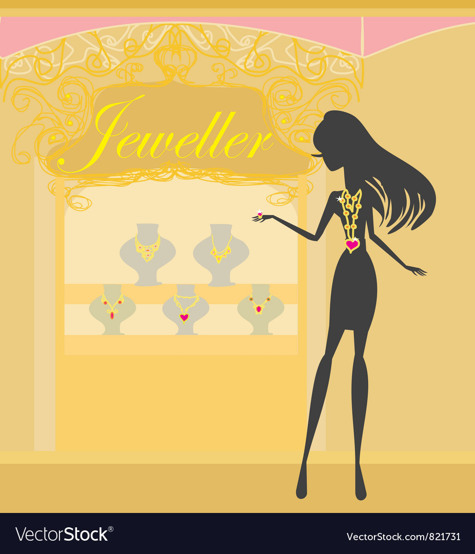 Girl and jewellerys vector | Price: 1 Credit (USD $1)