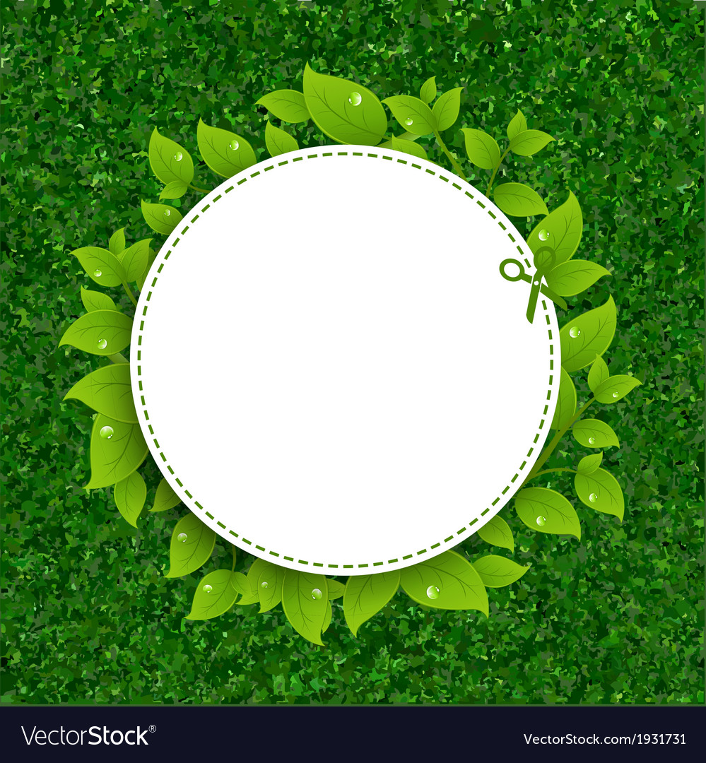 Green grass texture with leaves vector | Price: 1 Credit (USD $1)