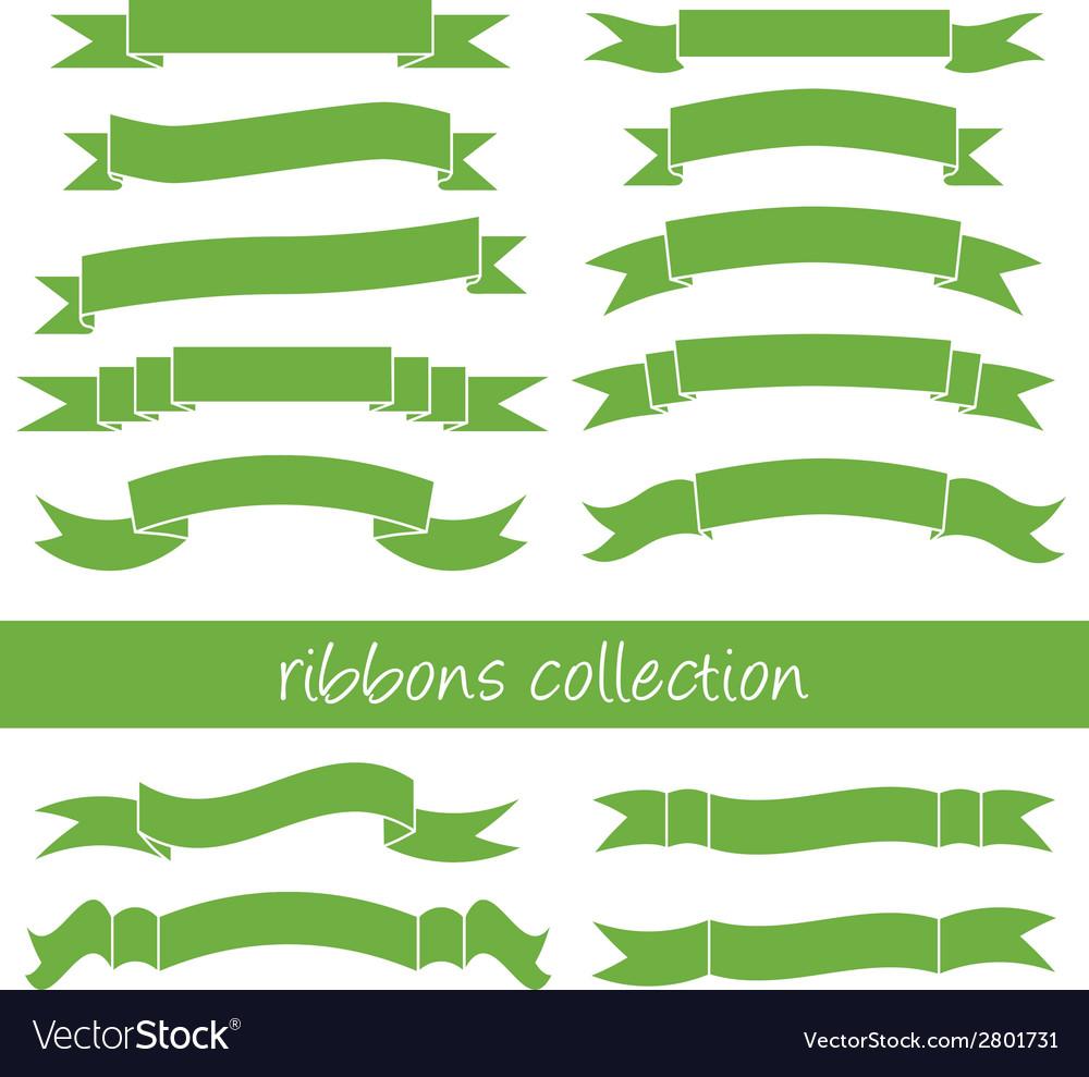 Green ribbons vector | Price: 1 Credit (USD $1)