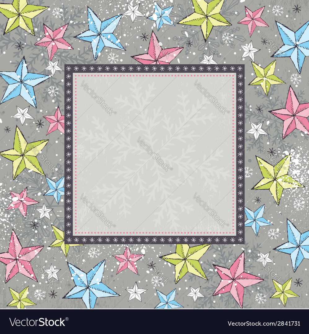 Grey background with christmas stars vector | Price: 1 Credit (USD $1)