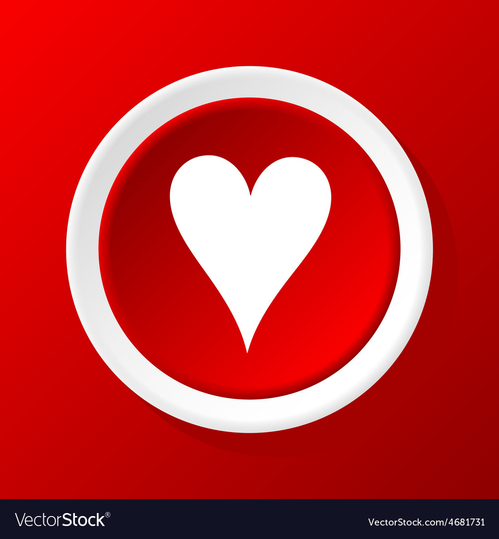 Hearts icon on red vector