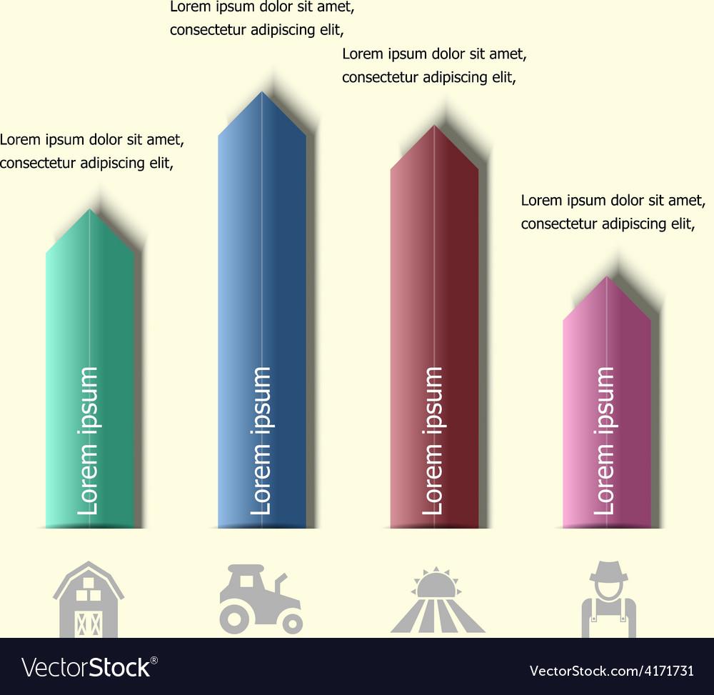Infographic arrow badge design template vector | Price: 1 Credit (USD $1)