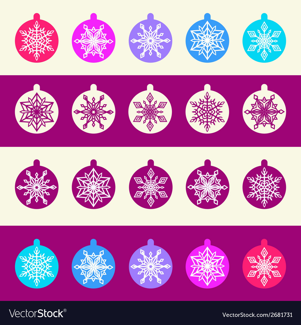 Seamless pattern from set of christmas balls with vector | Price: 1 Credit (USD $1)