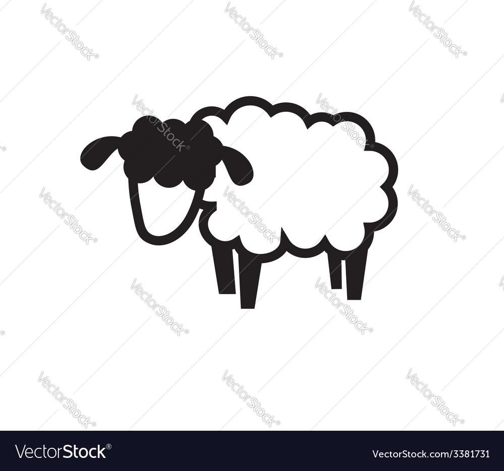 Sheep icon vector | Price: 1 Credit (USD $1)
