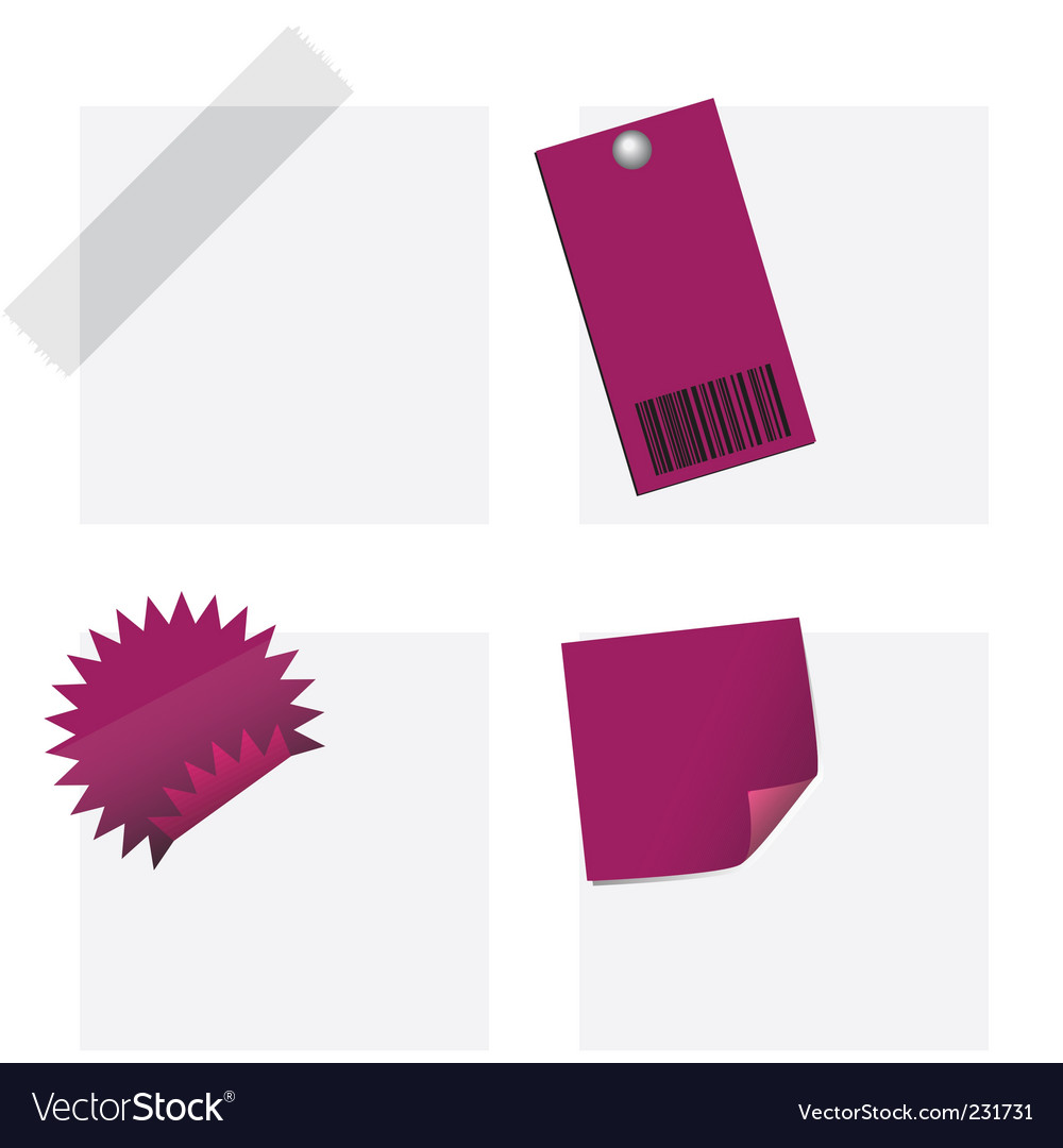 Tags and notes vector | Price: 1 Credit (USD $1)