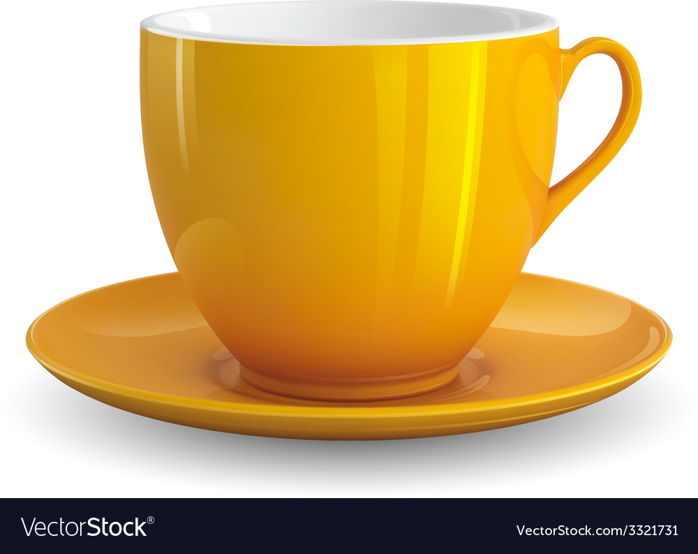 Yellow cup vector | Price: 3 Credit (USD $3)