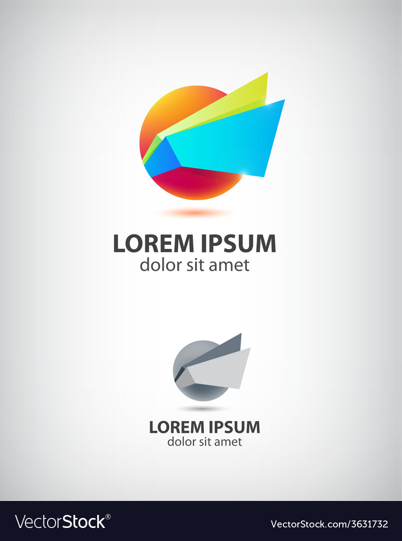 Abstract origami icon logo for company vector | Price: 1 Credit (USD $1)