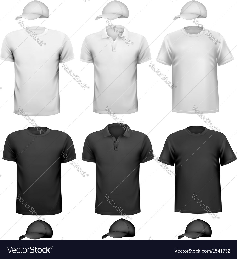 Black and white men shirt and cup design template vector | Price: 1 Credit (USD $1)