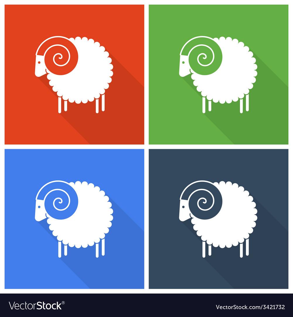 Christmas sheep icons vector   Price: 1 Credit (USD $1)