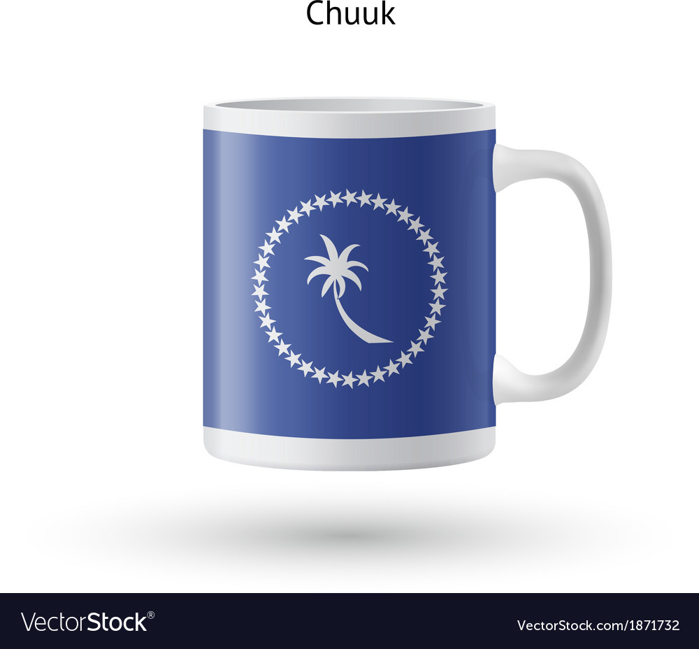 Chuuk flag souvenir mug on white background vector | Price: 1 Credit (USD $1)