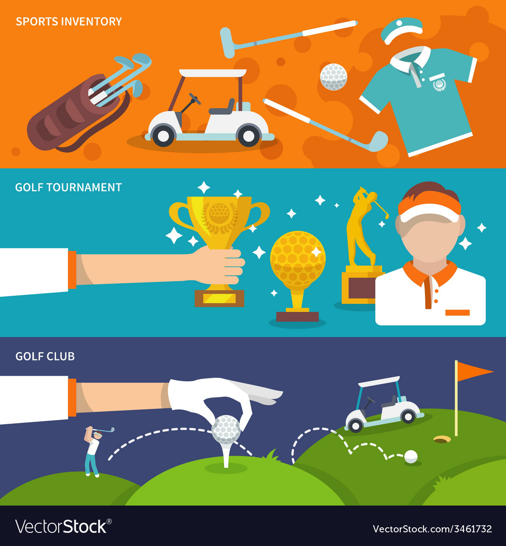 Golf banner set vector | Price: 1 Credit (USD $1)