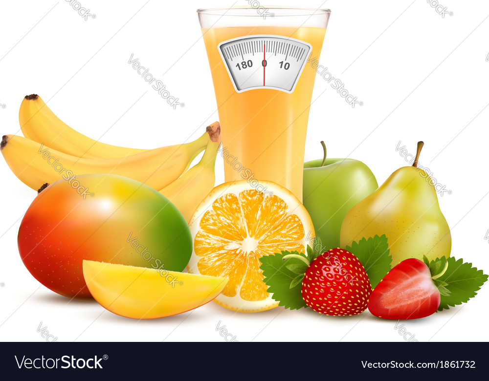 Group of healthy fruit diet concept vector | Price: 1 Credit (USD $1)