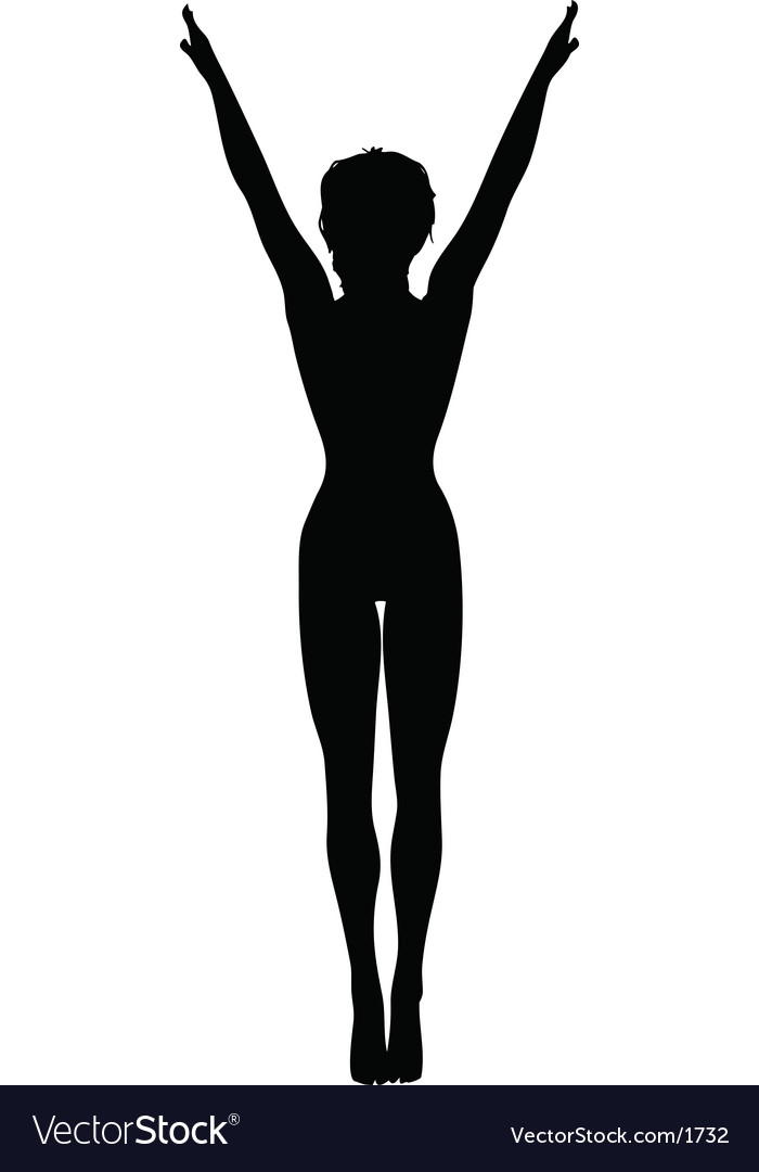Gymnast silhouette vector | Price: 1 Credit (USD $1)