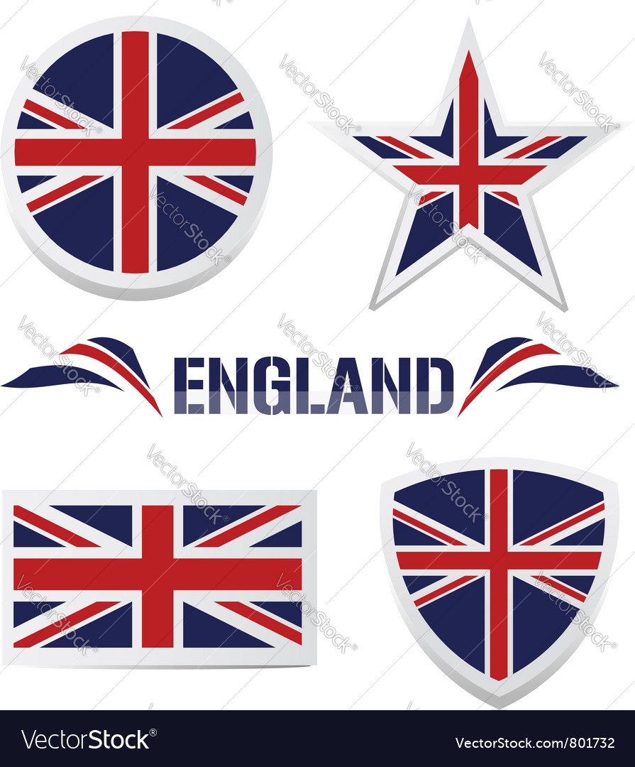 Set of british icons vector | Price: 1 Credit (USD $1)