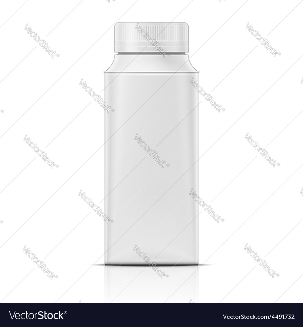Small white rounded cardboard joghurt package vector | Price: 1 Credit (USD $1)