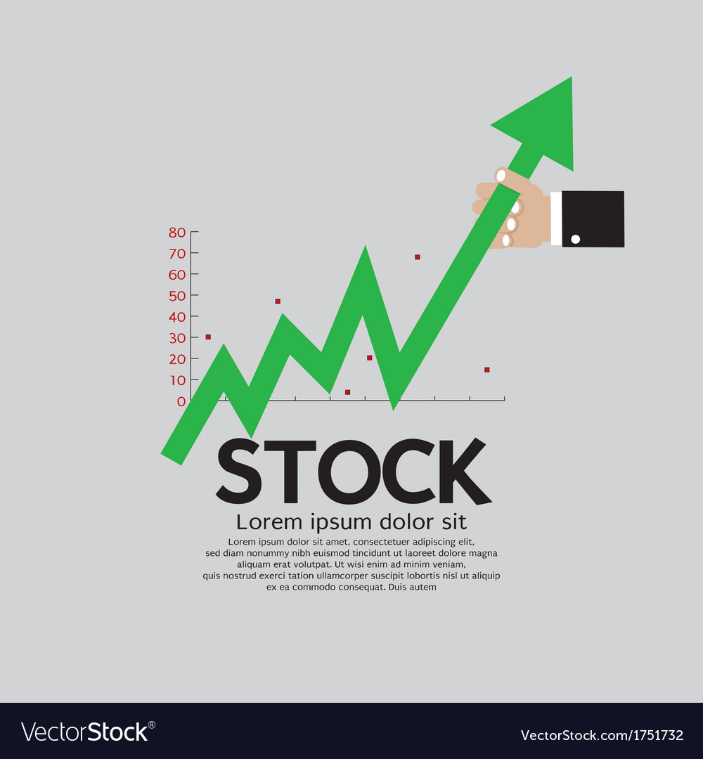 Stock shares raise up vector | Price: 1 Credit (USD $1)