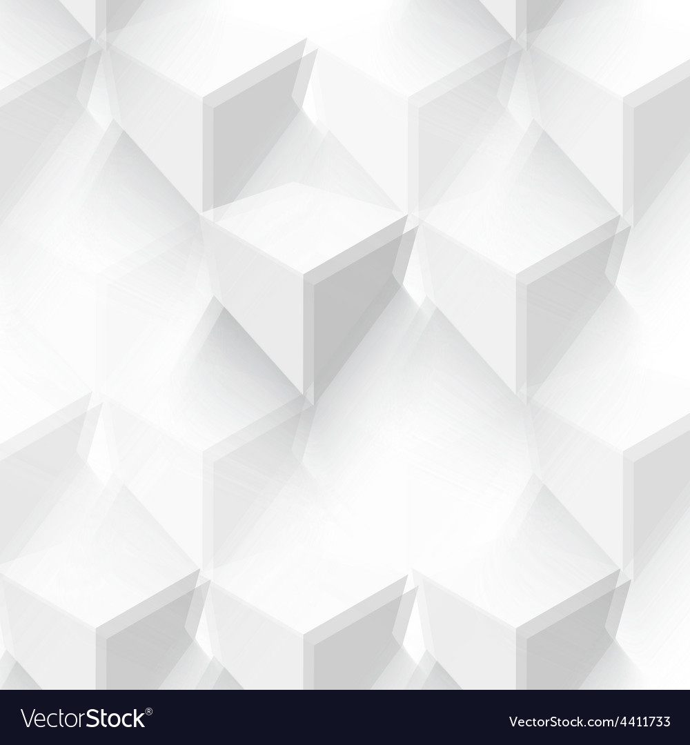 Abstract geometric shape from gray cubes vector | Price: 1 Credit (USD $1)