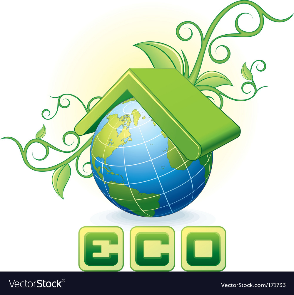 Eco concept vector | Price:  Credit (USD $)